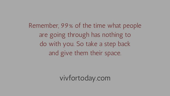 Giving people space - quote